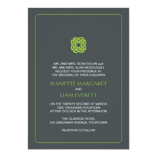 Modern Celtic Inspired Wedding Custom Announcement