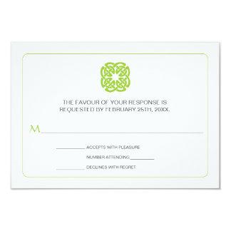 "Modern Celtic Inspired Wedding Reply 3.5"" X 5"" Invitation Card"