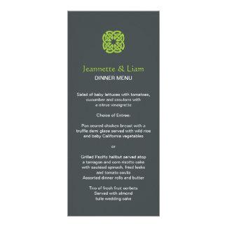Modern Celtic Knot Wedding Menu Full Color Rack Card