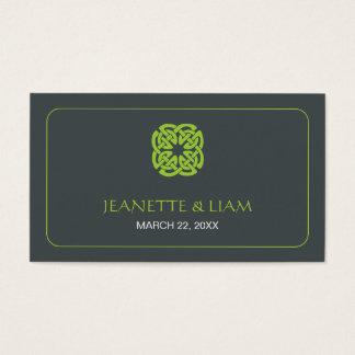 Modern Celtic Wedding Placecard Business Card