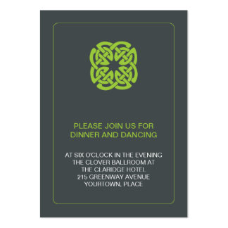 Modern Celtic Wedding Reception Large Business Cards (Pack Of 100)