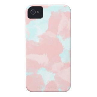 Modern cerulean and pink brush tones Case-Mate iPhone 4 case