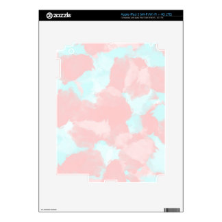 Modern cerulean and pink brush tones skin for iPad 3