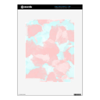 Modern cerulean and pink brush tones skins for the iPad 2