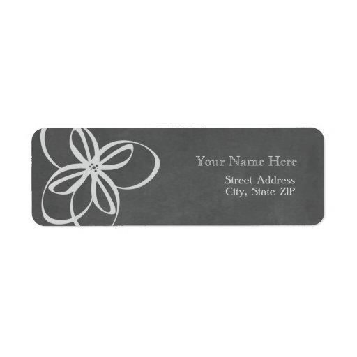 Modern Chalk Inspired Floral Address Label