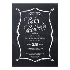 Modern Chalkboard Baby Shower Invitation