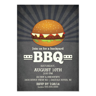 Modern Chalkboard Barbecue Party Card