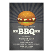 Modern Chalkboard Barbecue Party 5x7 Paper Invitation Card at Zazzle
