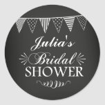 Modern Chalkboard Bridal Shower Sticker