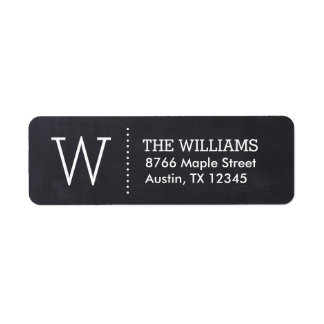 Modern Chalkboard Custom Monogram Label