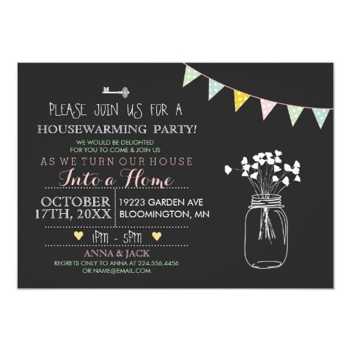 Modern Invitation Wording with awesome invitation template