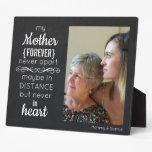Modern Chalkboard Mother Forever Never Apart Photo Plaque