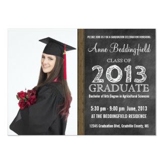 Modern Chalkboard  Photo Graduation Card