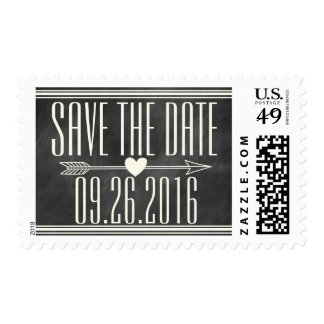 MODERN CHALKBOARD SAVE THE DATE POSTAGE