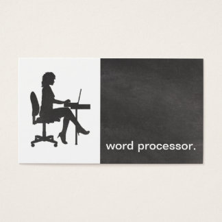 Modern Chalkboard Silhouette legal word processor Business Card