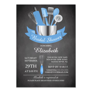 Modern Chalkboard Stock The Kitchen Bridal Shower Card