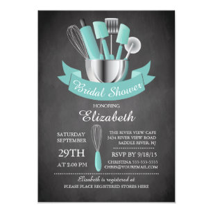 60 off kitchen bridal shower invitations shop now to save zazzle modern chalkboard stock the kitchen bridal shower invitation filmwisefo