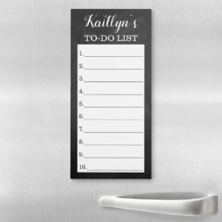 Modern Chalkboard To Do List Custom Magnetic Notepad