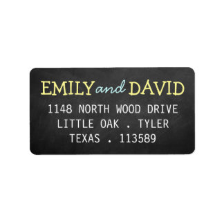 Modern Chalkboard Typography Wedding Labels