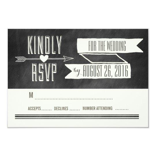 MODERN CHALKBOARD WEDDING RESPONSE CARD
