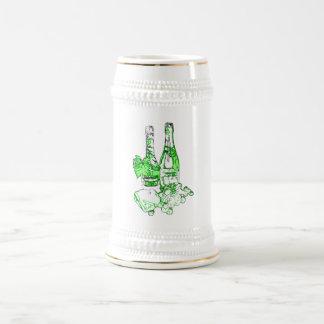 Modern Champagne Art Beer Stein