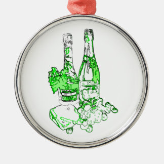 Modern Champagne Art Metal Ornament