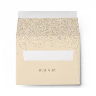 Modern Champagne Glitter Wedding, Response Envelope