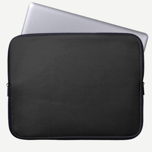 Modern Charcoal Black Customizable 15 Inch Laptop Sleeve
