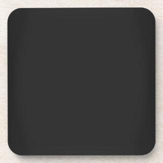 Modern Charcoal Black Customizable Beverage Coaster