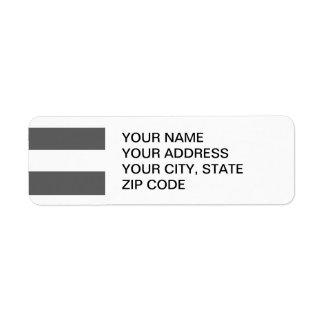 Modern Charcoal Gray White Stripes Pattern Label