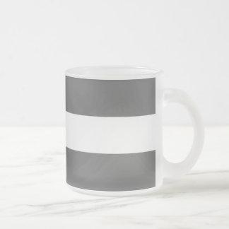 Modern Charcoal Gray White Stripes Pattern Mug