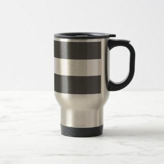 Modern Charcoal Gray White Stripes Pattern Mugs