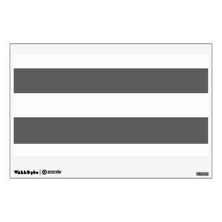 Modern Charcoal Gray White Stripes Pattern Room Decal