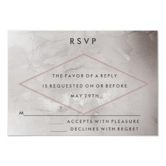 Modern Charcoal Watercolor Wedding RSVP Card