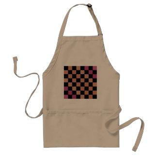 Modern Checkered Beige Kitchen Apron 1