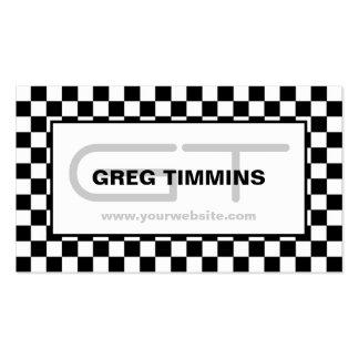 Modern Checkered Business Card