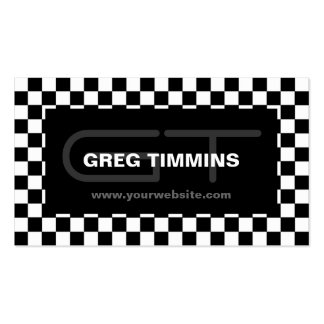 Modern Checkered Business Card Template
