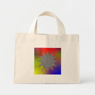 Modern Checkered Plasma by Kenneth Yoncich Mini Tote Bag