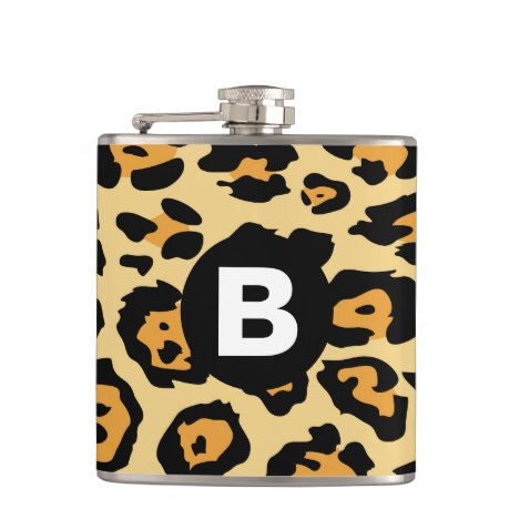 Modern Cheetah Spots Pattern Flask