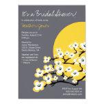 "Modern Cherry Blossom Bridal Shower Invitation 5"" X 7"" Invitation Card"