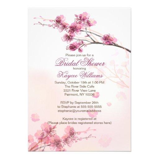 modern cherry blossom bridal shower invitation 5quot x 7 With cherry blossom wedding shower invitations