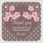 Modern Cherry Blossom Bridal Shower Thank You Stickers