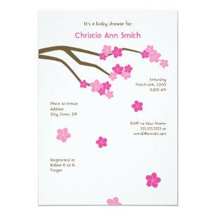 Japanese cherry blossom baby shower invitations zazzle modern cherry blossoms baby shower invitation wh filmwisefo