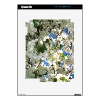 Modern Cherry Blossoms - Blue Sky Green Leaves Skins For iPad 2