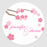 Modern Cherry Blossoms Personalized Sticker