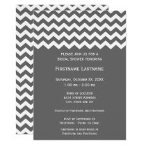 Modern Chevron Bridal Shower or Engagement Party Invitation