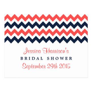 Modern Chevron Bridal Shower Recipe Cards
