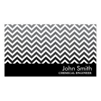 Modern Chevron Chemical Engineer Business Card