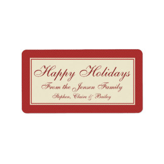 Modern Chevron Christmas Holiday Gift Label or Tag Personalized Address Labels