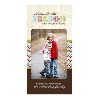 Modern Chevron Christmas Photo Cards (4x8)